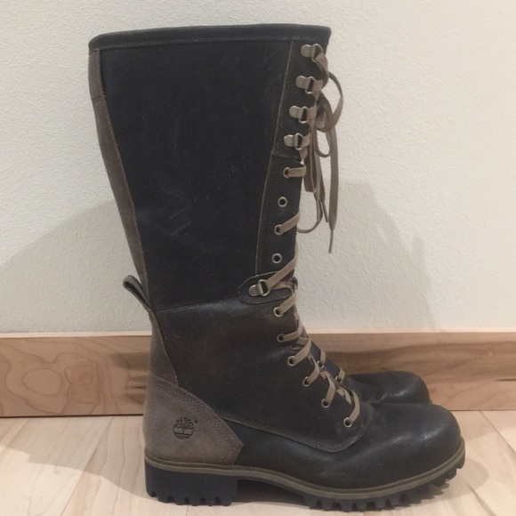 acf3e1960de06 Timberland Shoes | Wheelwright Tall Laceup Boots New | Poshmark